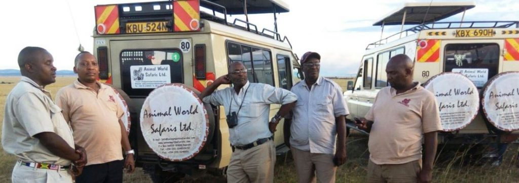 Animal World Safaris Team at the Masai Mara Park